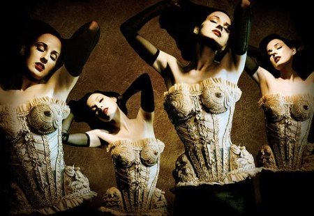 Dita Von Teese in a Mr. Pearl corset photographed by Ali Mahdavi